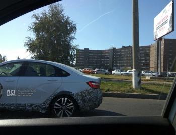 Седан LADA Vesta Cross тестируют в Тольятти