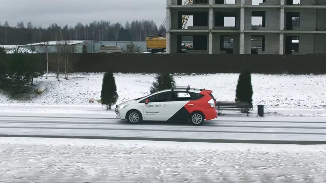 Беспилотник «Яндекс» протестировали по снегу