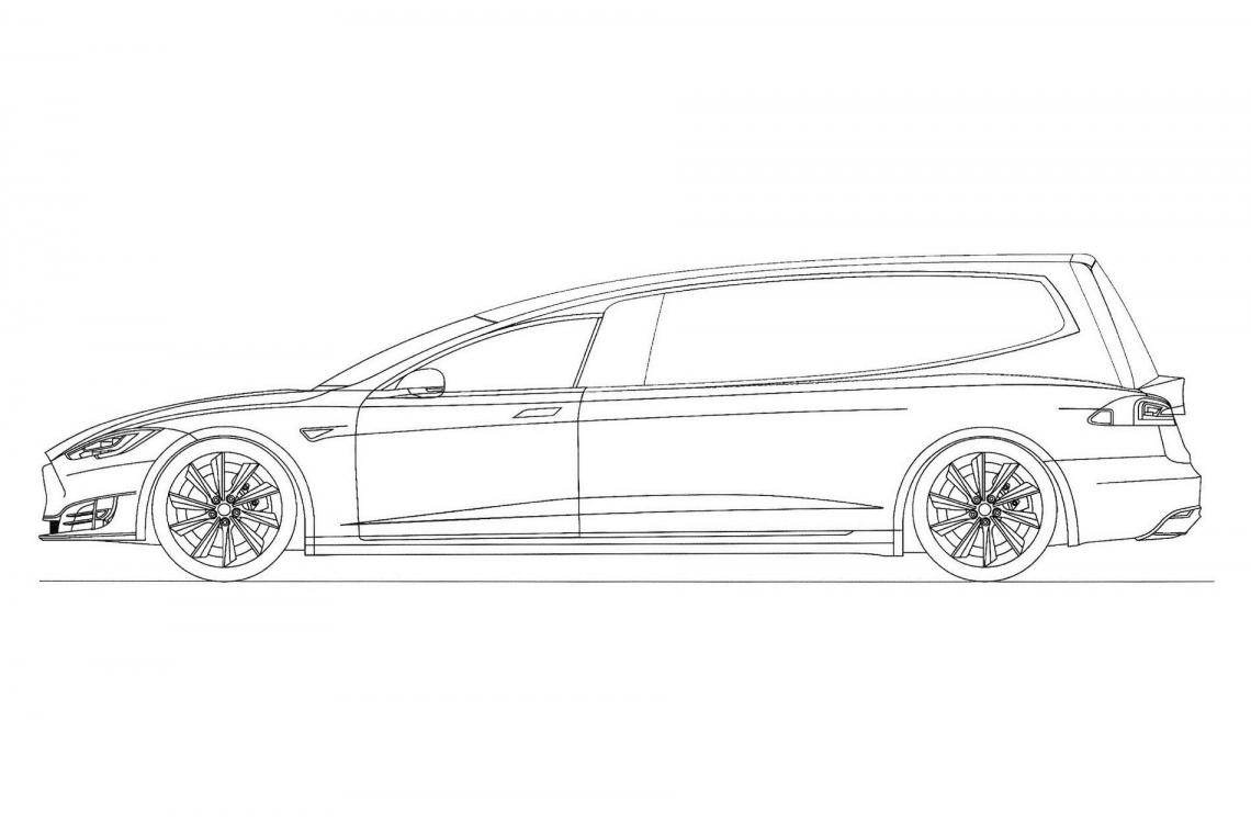 Tesla Model S превратили в катафалк и запатентовали в России